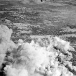 356 Squadron RAF flys over Japanese positions on Ramree Island
