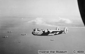 356 Squadron RAF heading for their base after bombing Japanese positions on Ramree Island
