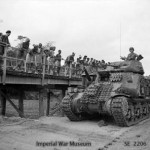 Tank moves in to support the 26th Indian Infantry Division on Ramree Island