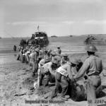 African troops bringing supplies ashore on Ramree Island