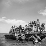 Troops landing ashore on Ramree Island